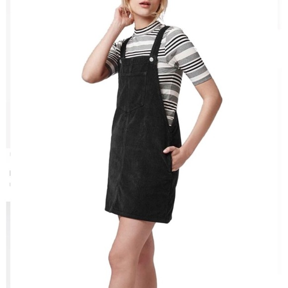 4f1500f8c New Topshop Black Corduroy Overalls Dress. M_5b205808aaa5b8a0a8fae109
